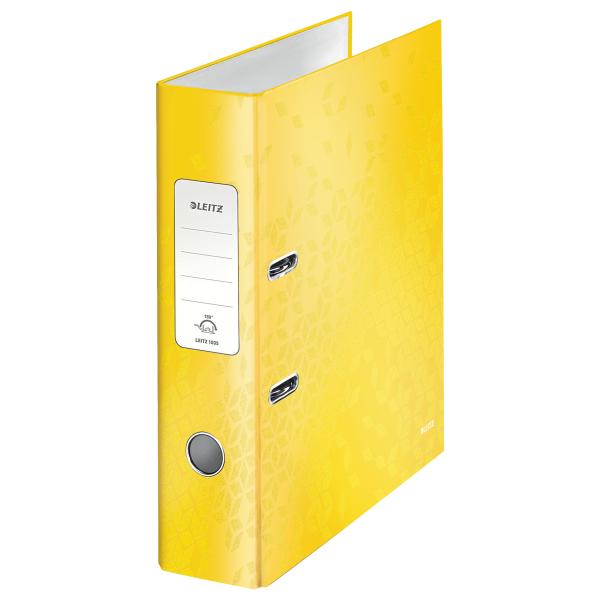 Pořadač pákový Leitz 180° WOW A4 7,5 cm žlutý