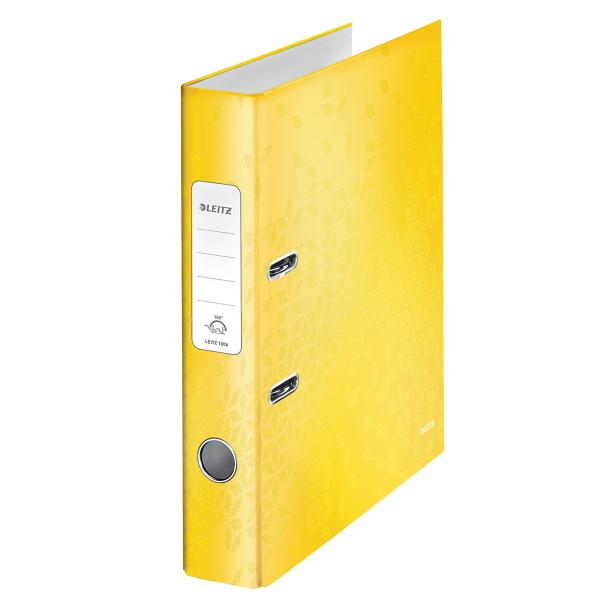 Pořadač pákový Leitz 180° WOW A4 5 cm žlutý