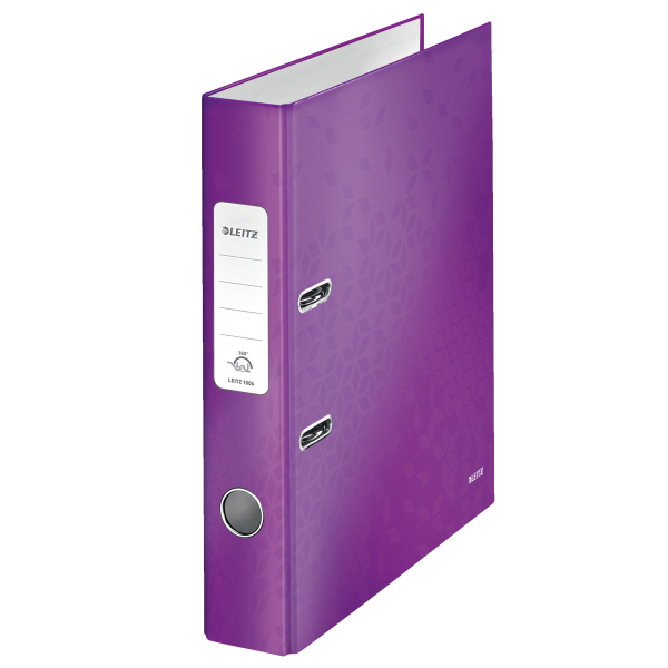 Pořadač pákový Leitz 180° WOW A4 5 cm purpurový