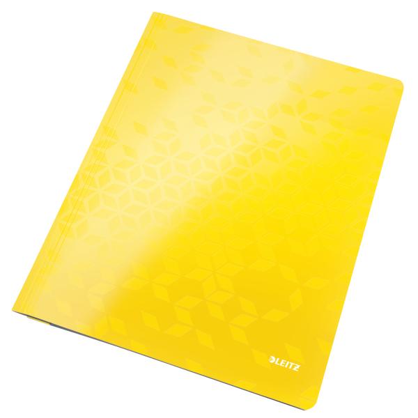 Desky s rychlovazačem Leitz WOW A4 žluté