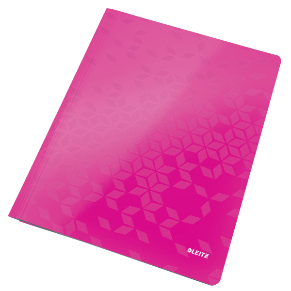 Desky s rychlovazačem Leitz WOW A4 růžové