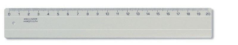 Pravítko 20 cm kouřové