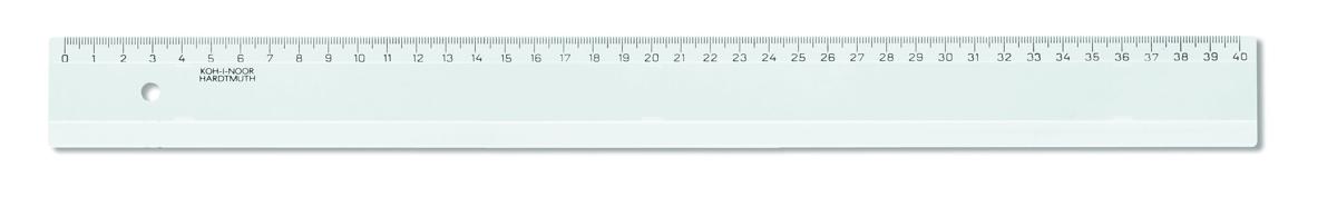 Pravítko 40 cm transparentní