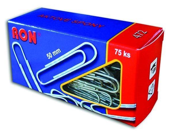 Spony aktové 472, 50 mm / 75 ks