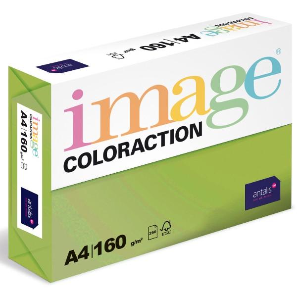 Papír kopírovací Coloraction A4 160 g zelená střední 250 listů