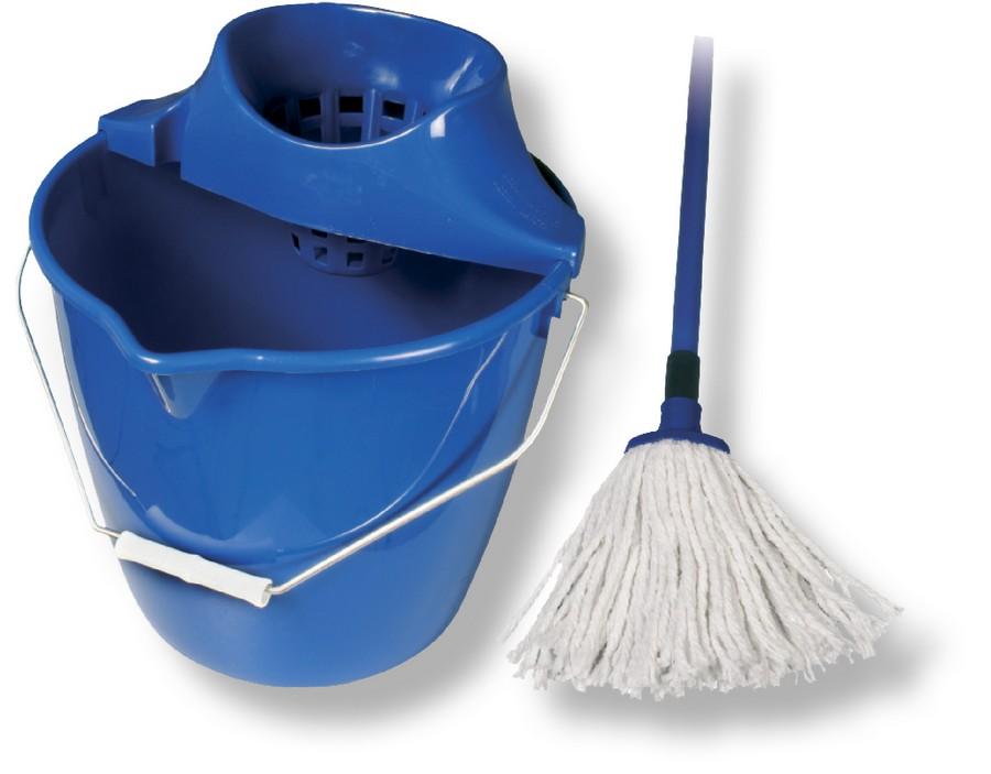Mop souprava provázky bavlna 100 g, modrý