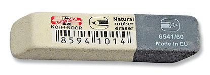 Pryž KIN 6541/60 šedo-bílá střední 57x14x8 mm