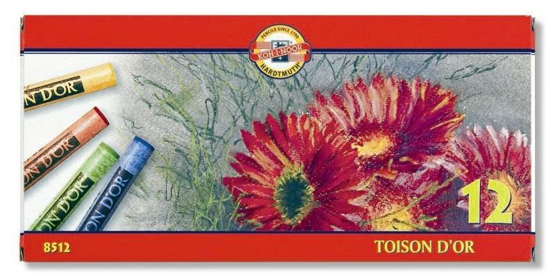 Křída suchá školní kulatá 8512/12 Toison D'Or v papír. krabičce
