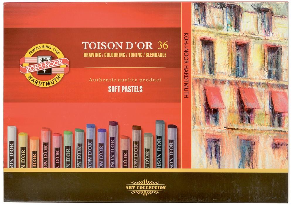 Křída suchá (prašná) umělecká kulatá 8515/36 Toison D'or v papír. krabičce