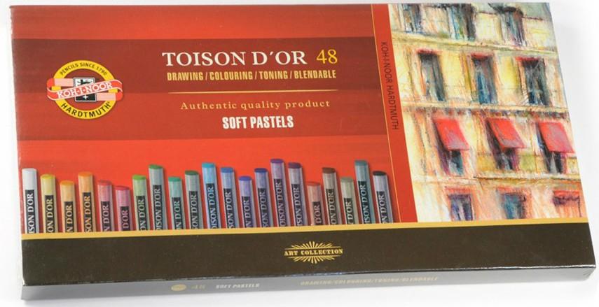 Křída suchá (prašná) umělecká kulatá 8516/48 Toison D'Or v papír. krabičce