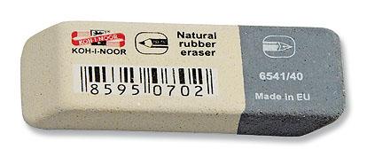 Pryž KIN 6541/40 šedo-bílá velká 57x19,5x8 mm