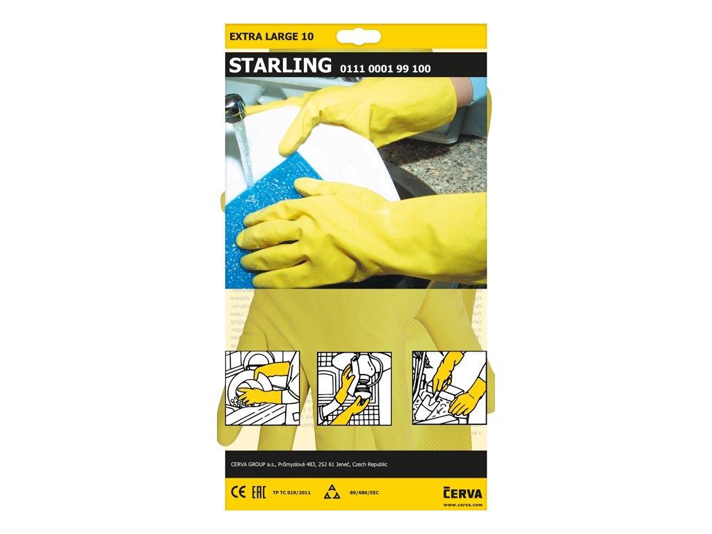 Rukavice gumové pro domácnost M vel. 8 Starling latex