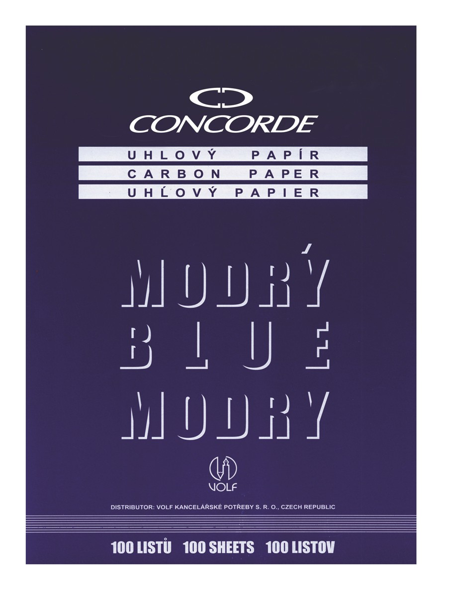 Papír uhlový Concorde 100 listů, modrý