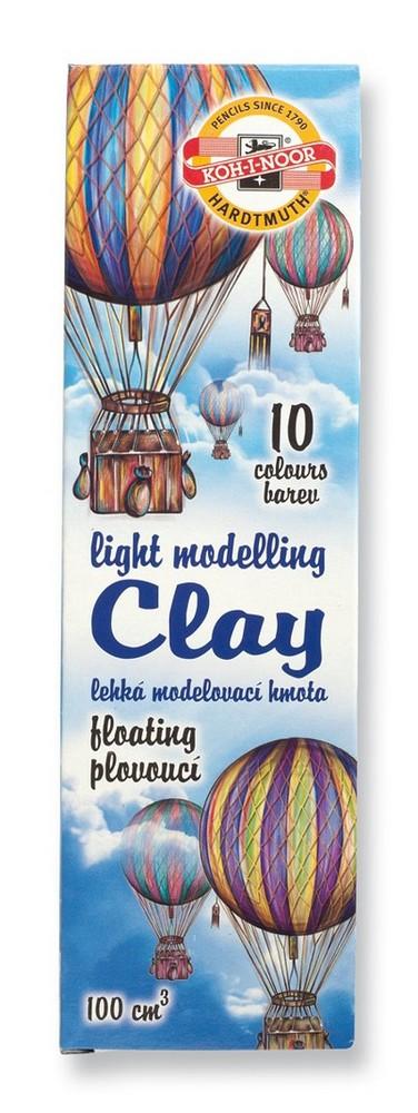 Modelína KIN 10 barev odlehčená v papírové krabičce