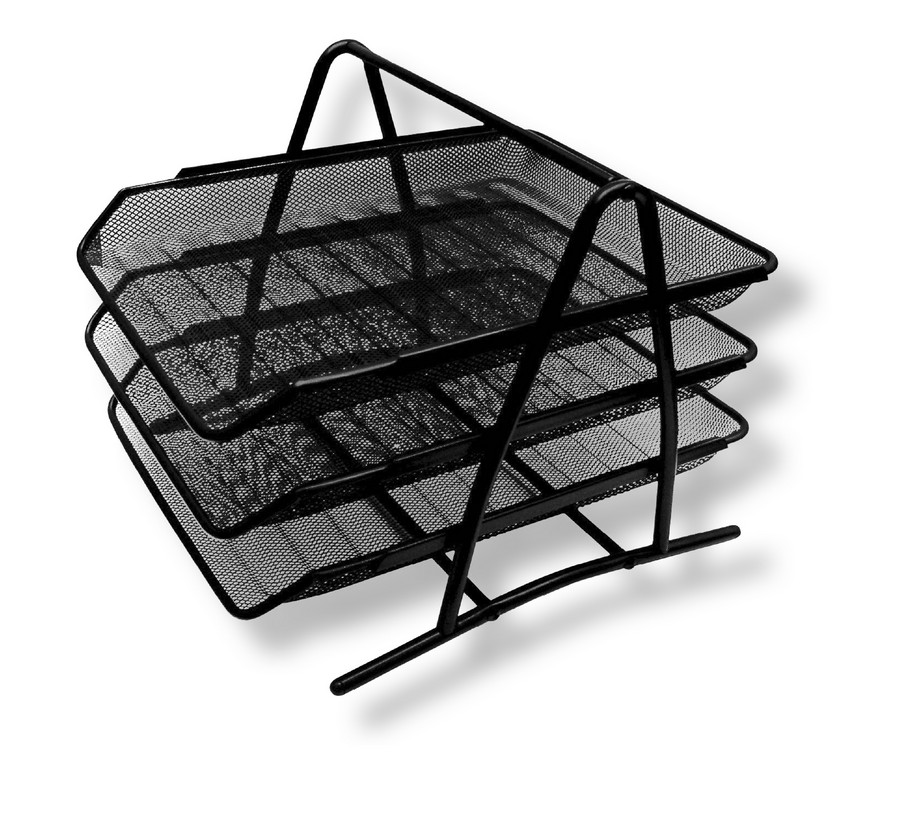 Drátěný program odkladač na spisy trojdílný černý