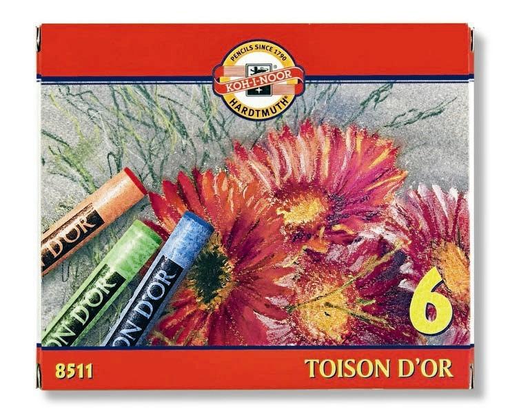 Křída suchá školní kulatá 8511/6 Toison D'Or v papír. krabičce