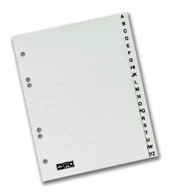 Rozdružovač plastový A4 abecední A-Z