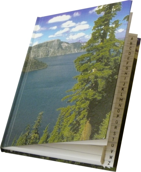 Záznamní kniha s registrem A5 čtverečkovaná, 96 listů