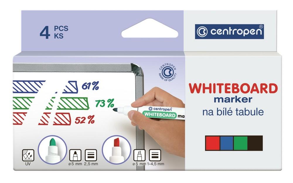 Značkovač 8559 na bílé tabule sada 4 barev