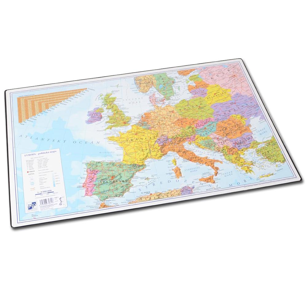 Podložka na stůl A2 ČR+Evropa oboustranná