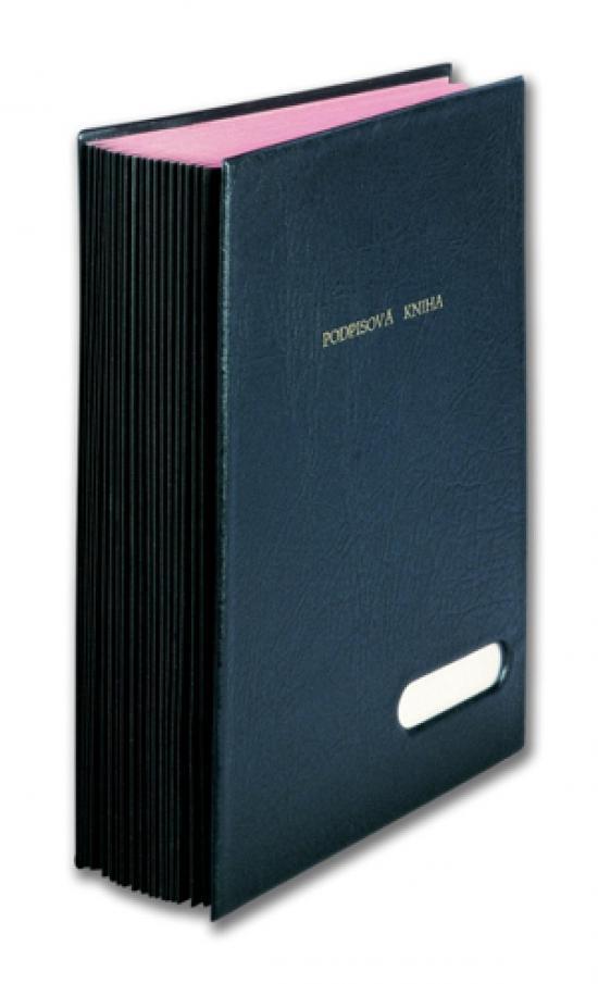 Kniha podpisová A4 černá