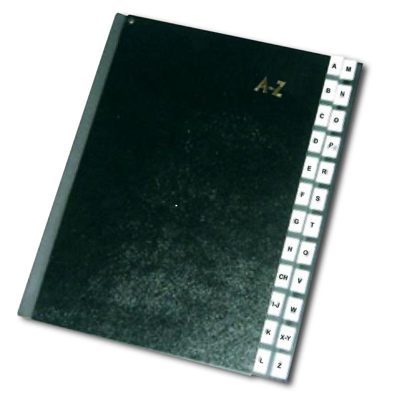 Rozdružovací kniha černá A4 abecední A-Z