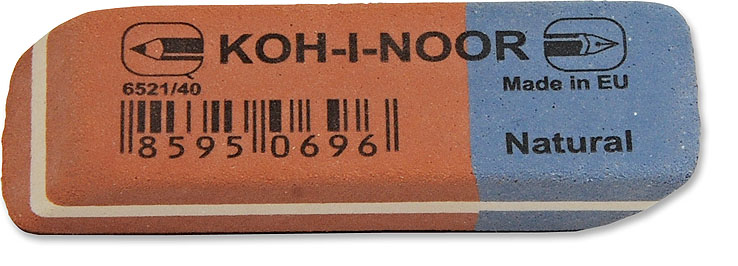 Pryž KIN 6521/40 červeno-modrá střední 57x19,5x8 mm