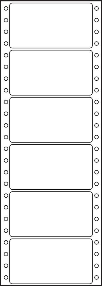 Etikety tabelační jednořadé S&K Label 89 x 48,8 bílé