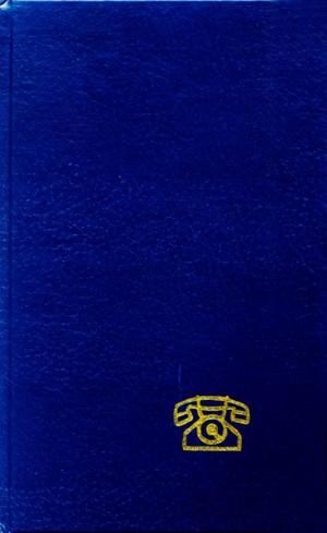 Telefonní zápisník A5 bez růžků, 72 listů, index