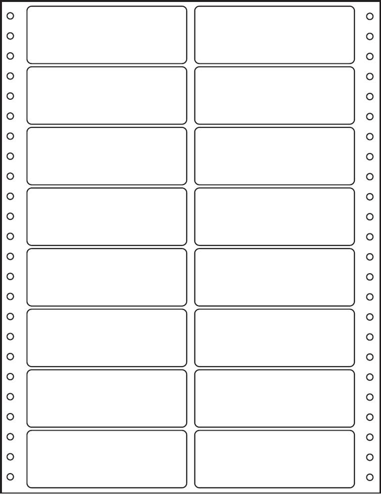 Etikety tabelační dvouřadé S&K Label 100 x 36,1 bílé