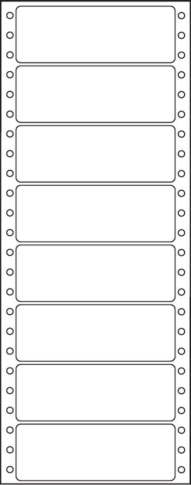 Etikety tabelační jednořadé S&K Label 100 x 36,1 bílé