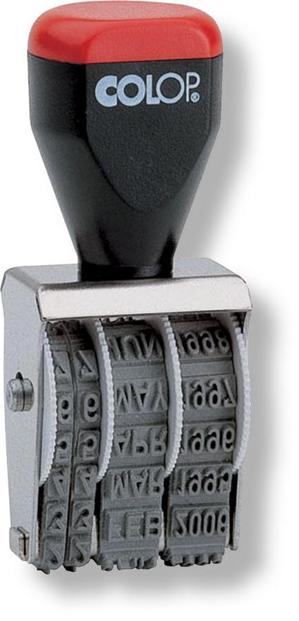 Razítko - datumka Colop 4 mm, nesamobarvicí 04000 měsíc slovem