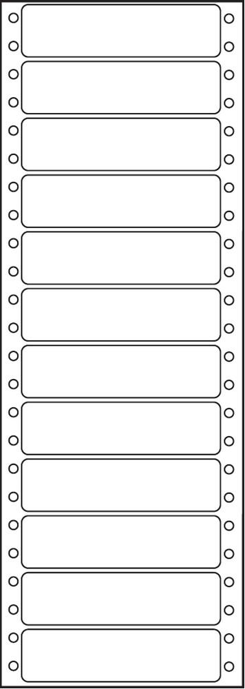 Etikety tabelační jednořadé S&K Label 89 x 23,4 bílé