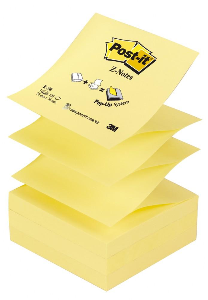 """Blok samolepicí Post-it 76 x 76 mm typ """"Z"""" žlutý"""