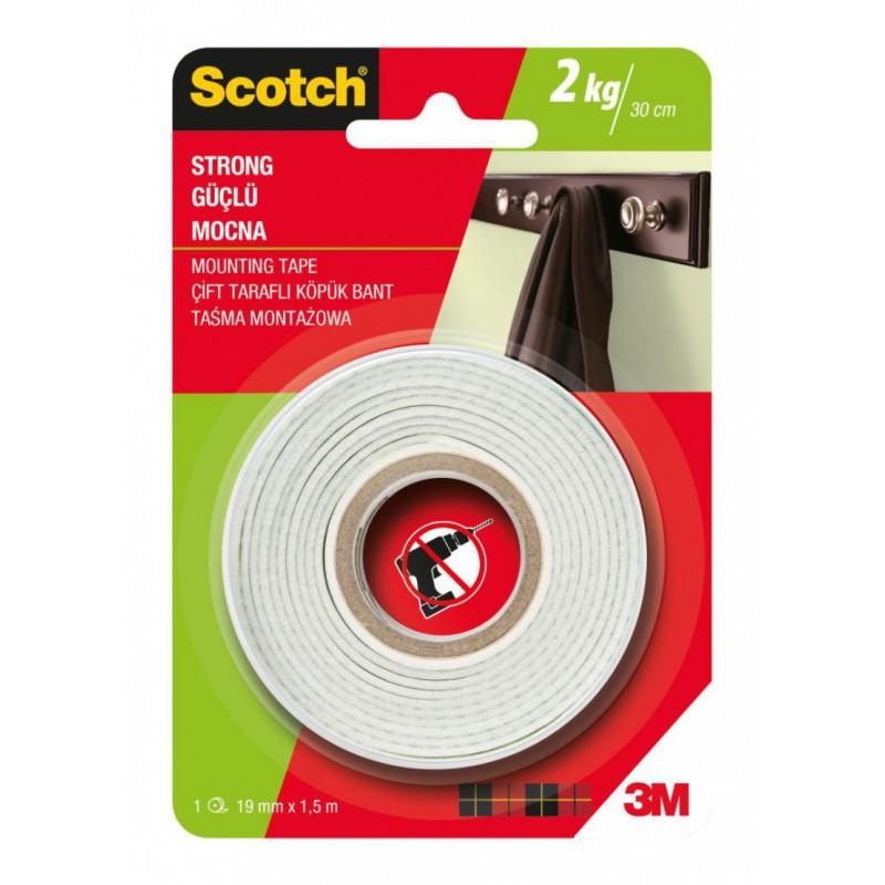 Lepicí páska oboustranná SCOTCH 12,7 mm x 1,9 m pěnová