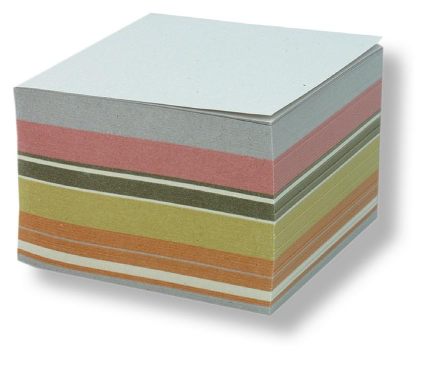 Blok špalíček lepený barevný (pastel) 85x85x40 mm