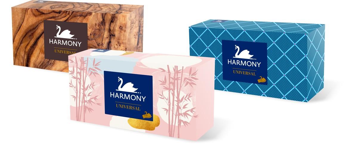 Kapesníčky papírové 2-vrstv. Harmony 150 ks