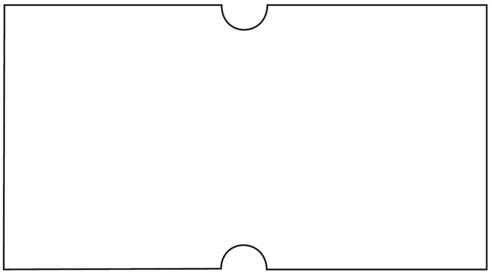 Etikety cenové 22 x 12 bílé COLA-PLY