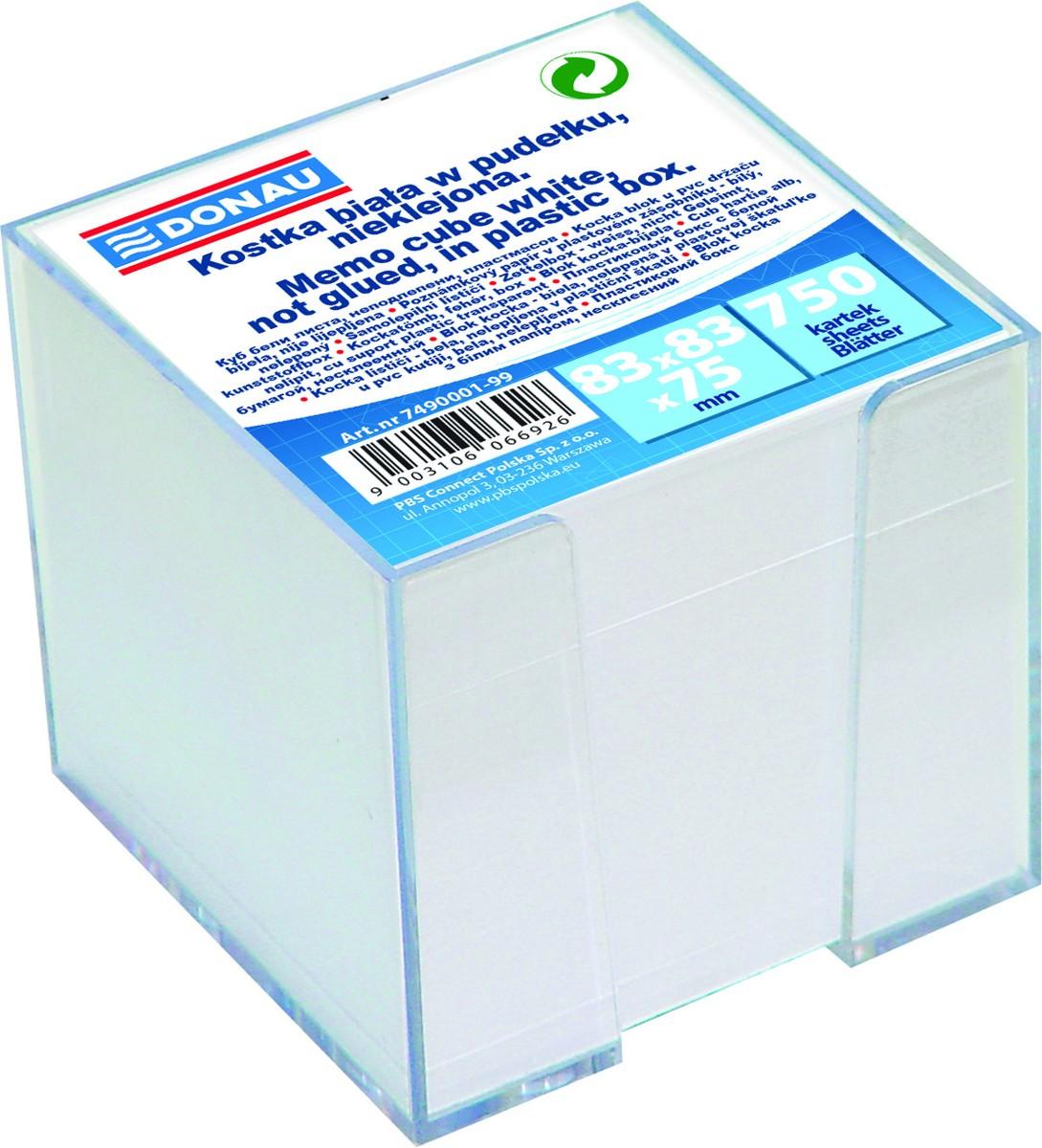 Blok špalíček 9 x 9 x 6,5 cm krabička s náplní - černá