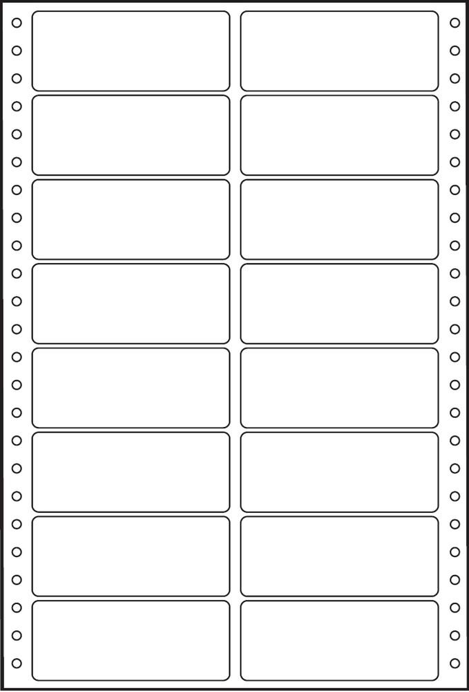 Etikety tabelační dvouřadé S&K Label 89 x 36,1 bílé