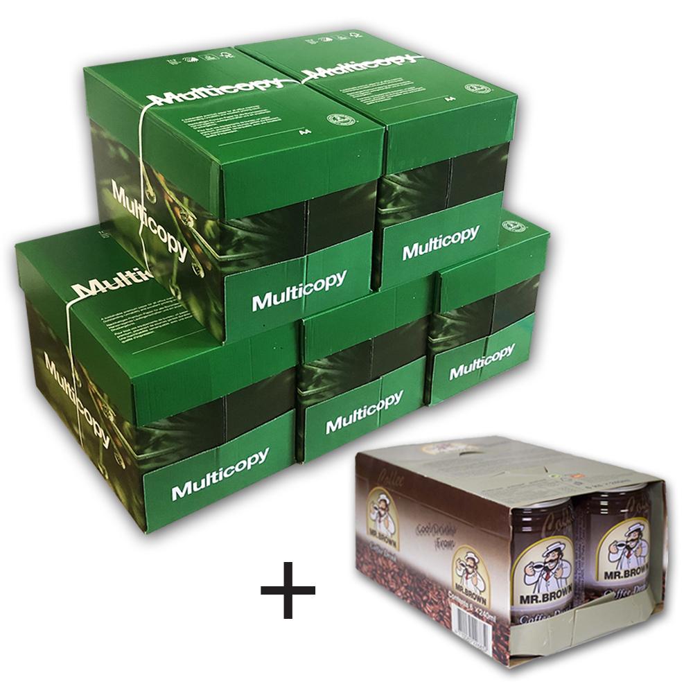 Papír kopírovací MultiCopy Original A4 80g 500 listů/25 balení + 6 ks Ledové kávy Mr. Brown