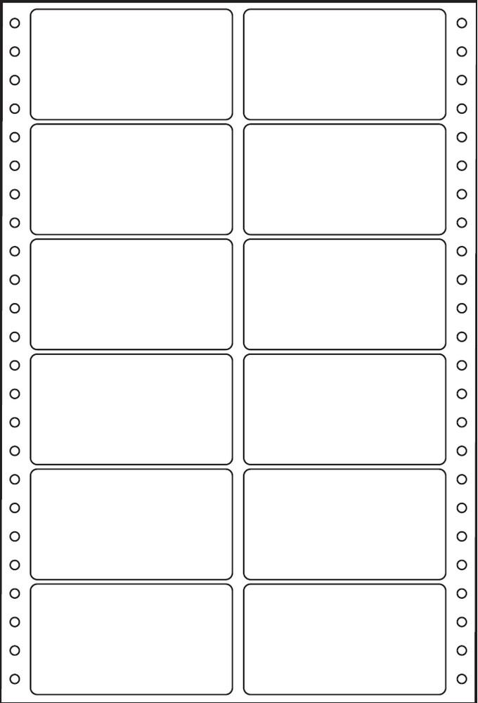 Etikety tabelační dvouřadé S&K Label 89 x 48,8 bílé