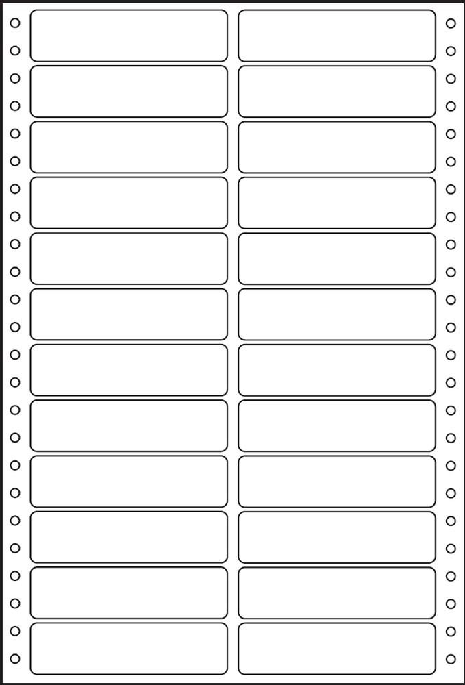 Etikety tabelační dvouřadé S&K Label 89 x 23,4 bílé