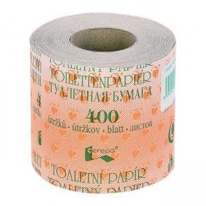 Papír toaletní recyklovaný, návin 45 m, 1-vrstvý / 64 ks