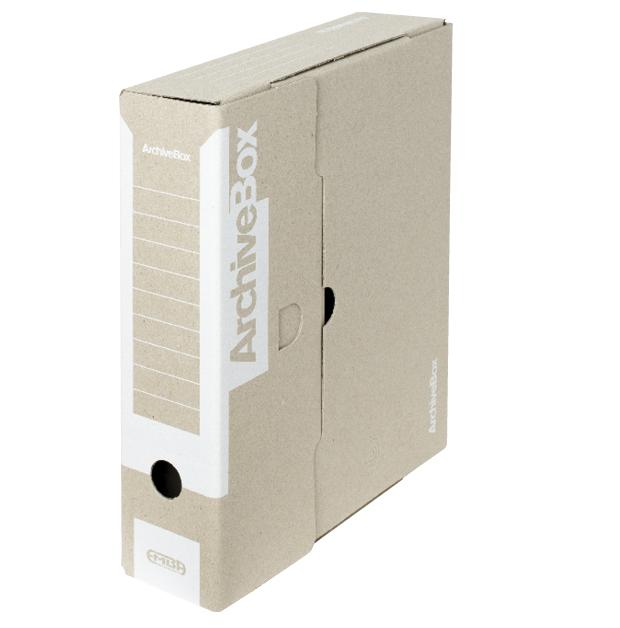 Box archivační barevný 330 x 260 x 75 mm bílý