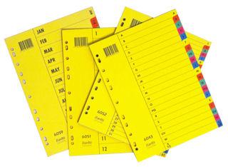 Rozdružovač papírový A4 číselný 1-31