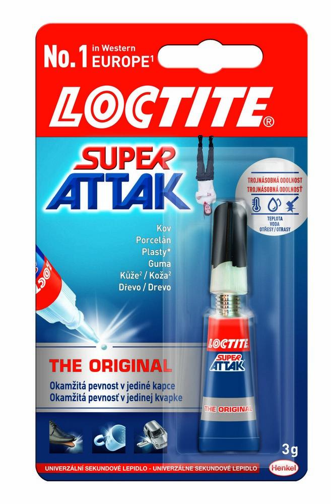 Lepidlo vteřinové Loctite Super Attak Universal 3 g