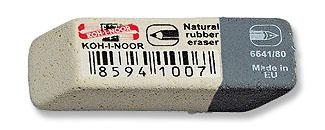 Pryž KIN 6541/80 šedo-bílá malá 41x14x8 mm