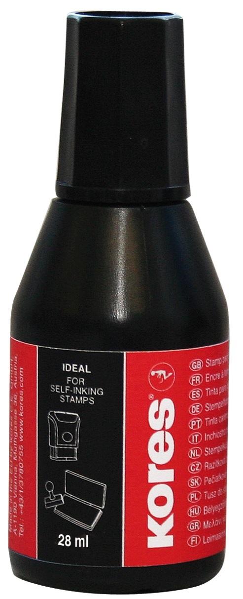 Razítková barva Kores černá 28 ml