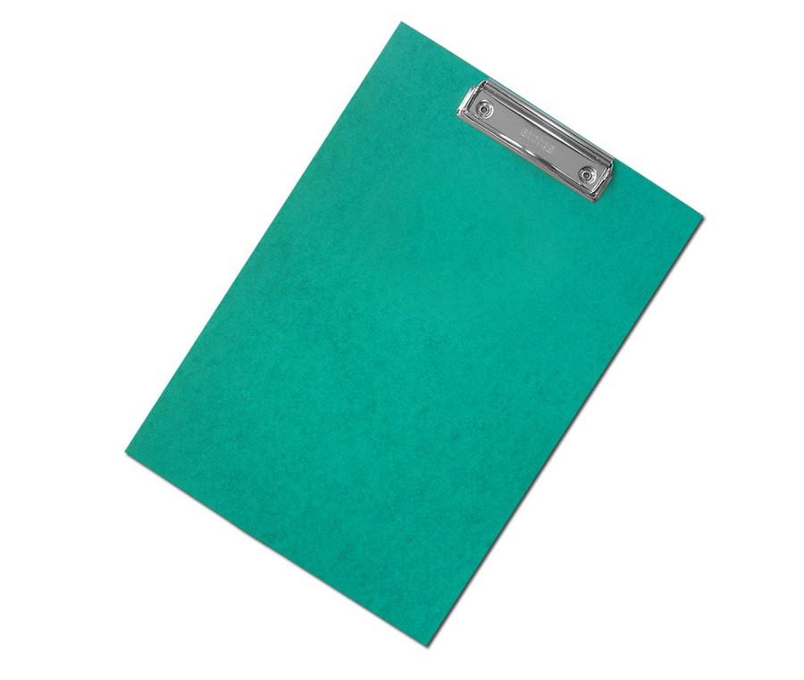 Podložka na psaní s klipem A4 zelená